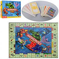 ̂ Детская настольная игра Монополия экономическая развивающая интеллектуальная Монополия M 3802 Мстители для