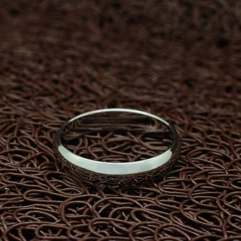 Кільце позолочене оручальное біла позолота, фото 2