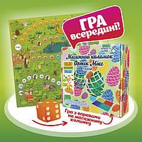 """Масажний килимок Пазли з настільною грою """"Лісові пригоди"""" 10 елементів, фото 1"""