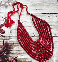 Гуцульське Намисто (7) червоне