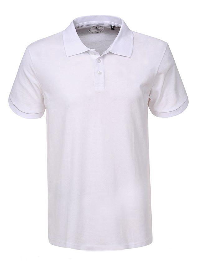 Мужская белая футболка поло в большом размере