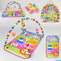 Коврик игровой для детей 842,  5 подвесок, в сумке