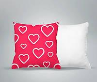 Плюшевые подушки, печать фото и надписей, романтический мотив