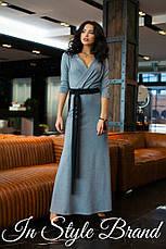 Платье в пол вырез на груди трикотаж, фото 2