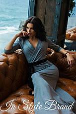 Платье в пол вырез на груди трикотаж, фото 3