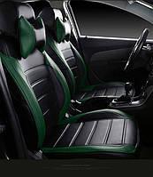 Чехлы на сиденья КИА Соул 2 (KIA Soul 2) модельные MAX-L из экокожи Черно-зеленый