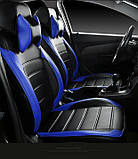 Чехлы на сиденья Хонда СРВ (Honda CR-V) модельные MAX-L из экокожи Черно-синий, фото 3