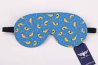 Двусторонняя маска для сна с птичками