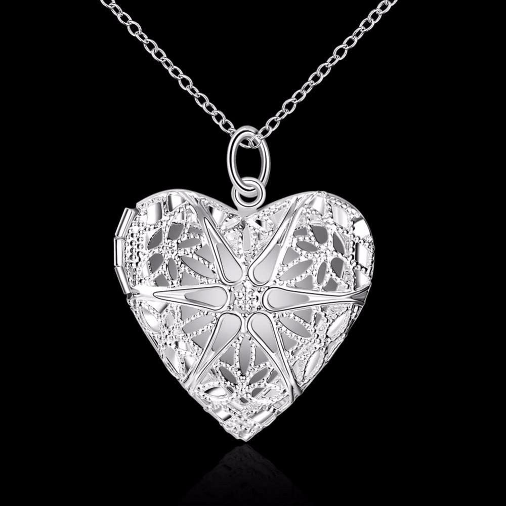 """Кулон женский открывающийся в виде сердца """"Воздушное сердце II"""" покрытие серебро"""