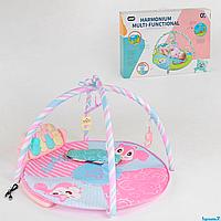 Коврик музыкальный для детей 668-68,  розовый,  5 подвесок, в коробке