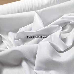 Ткань рубашечная поплин стрейч белый