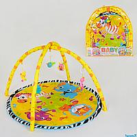 Коврик игровой для детей 815, 5 подвесок-погремушек, в сумке