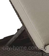 Шезлонг из искусственного ротанга Daytona коричневый, фото 2