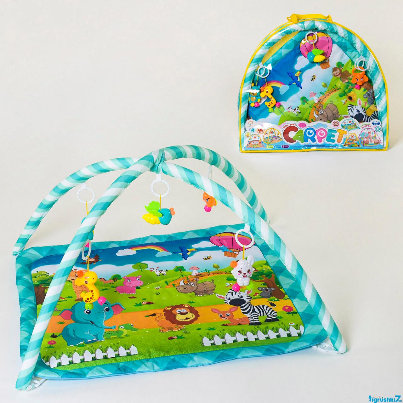 Коврик игровой для детей 829, 5 подвесок, в сумке