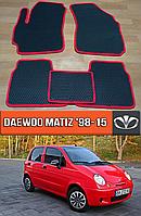 ЕВА коврики Део Матиз 1998-2015. EVA ковры на Daewoo Matiz