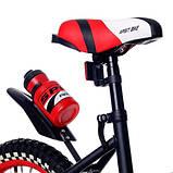 Детский двухколесный велосипед с подсветкой колес и корзиной Huada Toys 1687 для детей 4-7 лет Красный, фото 4
