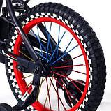 Детский двухколесный велосипед с подсветкой колес и корзиной Huada Toys 1687 для детей 4-7 лет Красный, фото 5