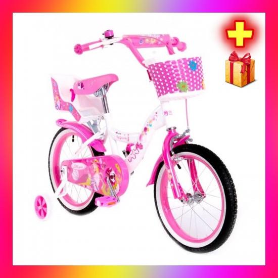 Детский двухколесный велосипед с корзинкой и багажником Little Queen 20 дюймов для девочки 7-11 лет Розовый