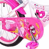 Детский двухколесный велосипед с корзинкой и багажником Little Queen 20 дюймов для девочки 7-11 лет Розовый, фото 2