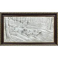 """Подарок охотнику """"Охота на кабана""""  под стеклом, фото 1"""