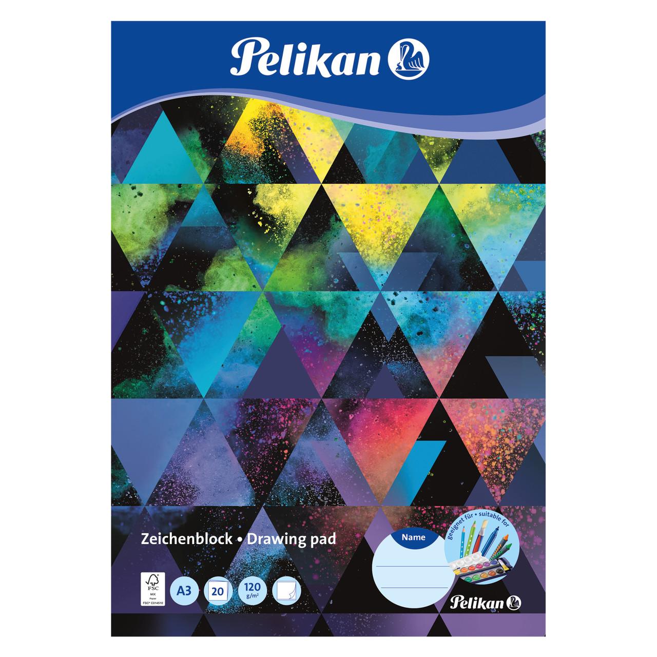 Альбом для рисования Pelikan A3 20 листов 120г Colorsplash