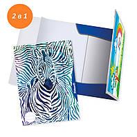 Альбом-папка 2в1 А3 10 листов 100г Pelikan Zebra, фото 1
