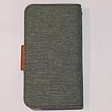 Універсальний чохол книжка для телефону 4,8 - 5,3 дюймів Сірий, фото 3
