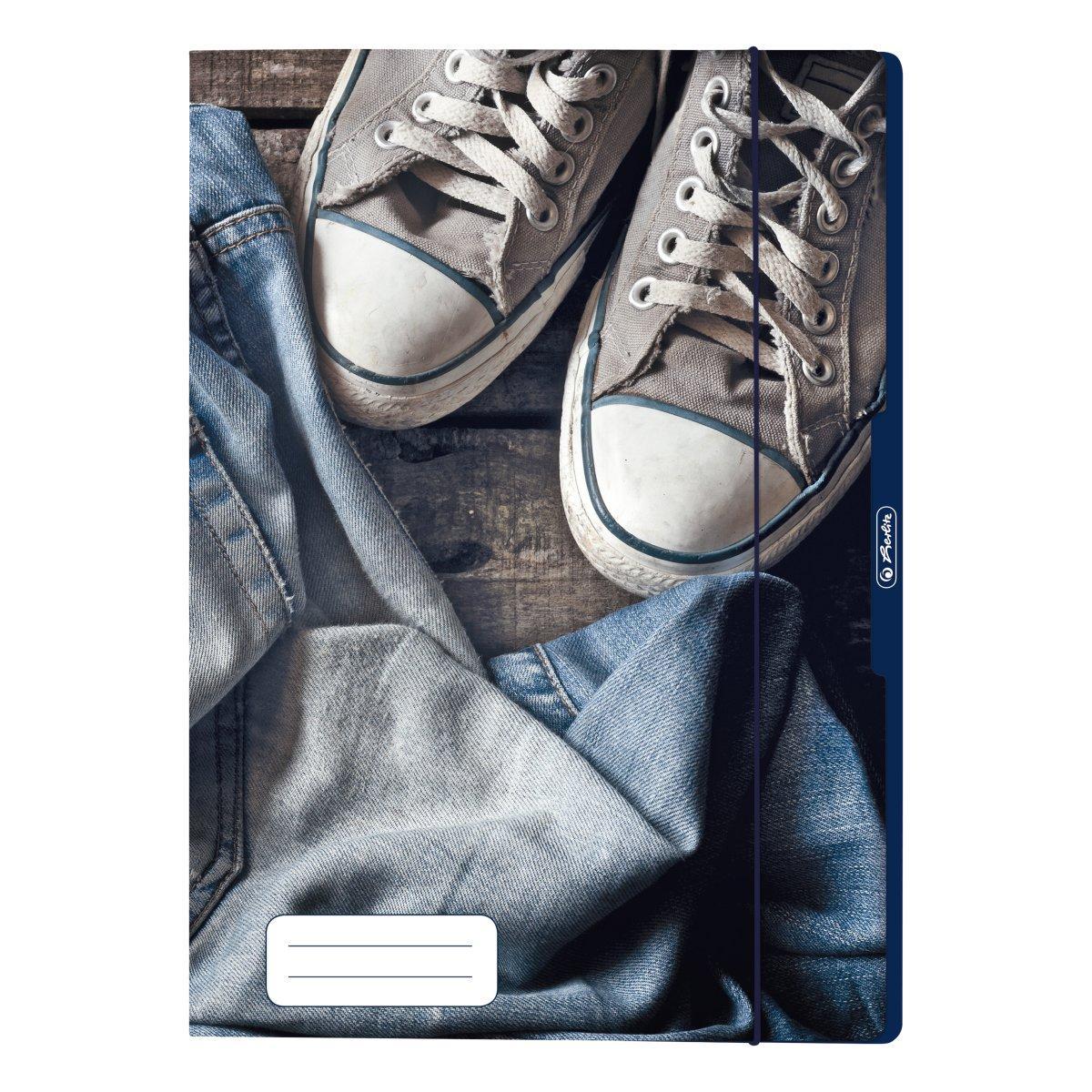 Папка картонна на гумці А4 Herlitz Jeans Shoes Кеди