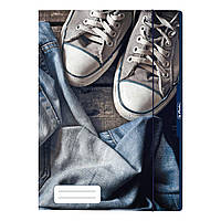 Папка картонна на гумці А4 Herlitz Jeans Shoes Кеди, фото 1