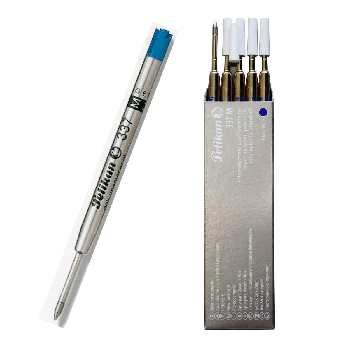 Набор стержней для шарковой ручки 5шт Pelikan 337M метал синие