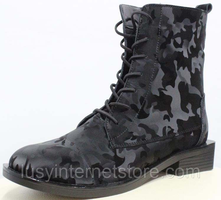 Высокие ботинки женские кожаные от производителя модель РИ11-11