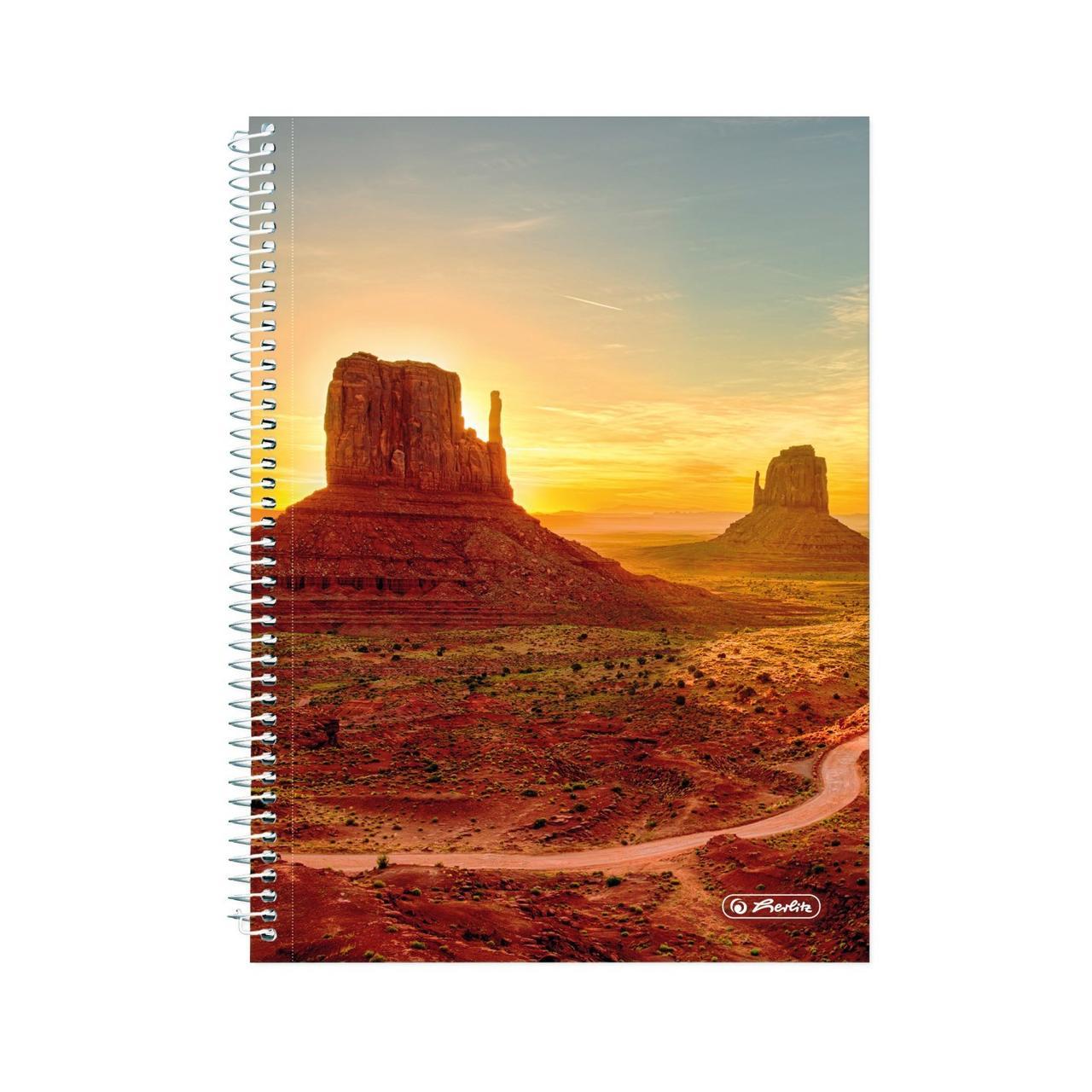 Блокнот Herlitz А5 120 листов в точку Dream Landscape Аризона Долина Монументов