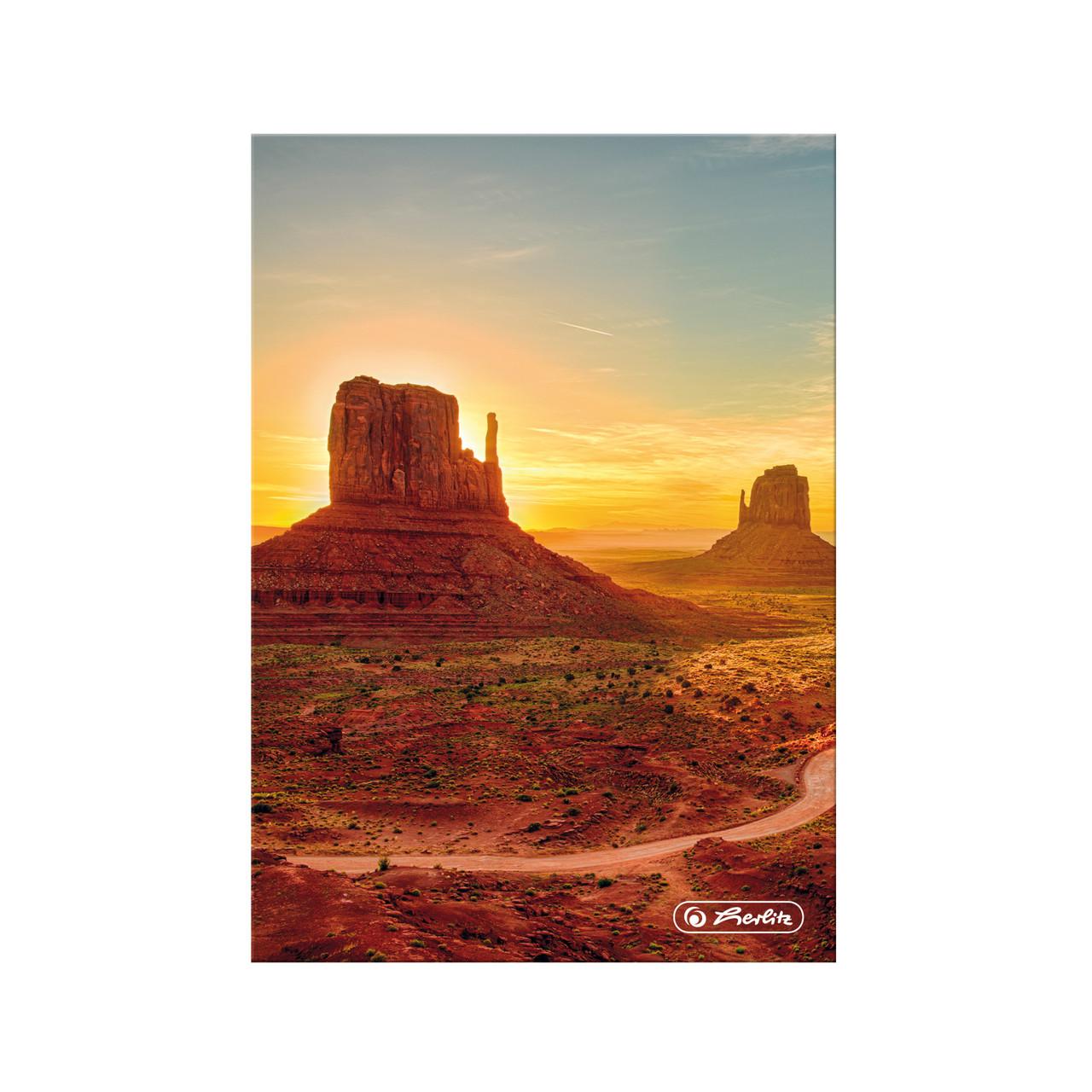 Блокнот Herlitz А5 96 листов клетка Dream Landscape Аризона Долина Монументов