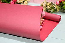 Крафт бумага двухсторонняя однотонная упаковочная цветная 70см*10м Красная/Марсал