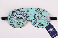 Двусторонняя мятная маска для сна с цветочным принтом
