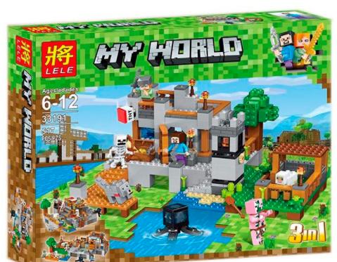 """Конструктор Lele My World 33191 (18) """"Береговая цитадель"""", 517 деталей, в коробке"""