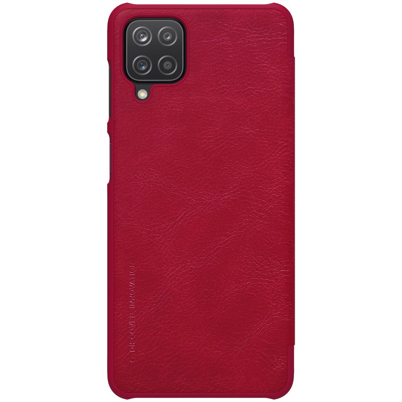 Защитный чехол-книжка Nillkin для Samsung Galaxy A12 (Qin leather case) Red Красный