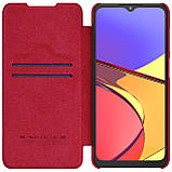Защитный чехол-книжка Nillkin для Samsung Galaxy A12 (Qin leather case) Red Красный, фото 3