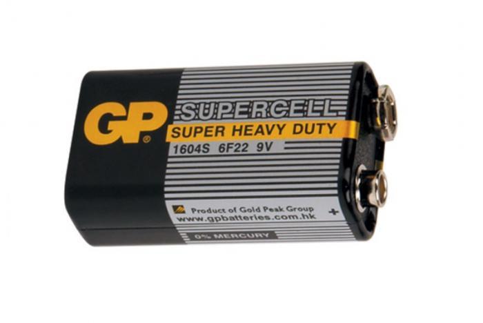 Батарейки GP Крона (черный)