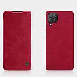 Защитный чехол-книжка Nillkin для Samsung Galaxy A12 (Qin leather case) Red Красный, фото 5