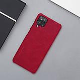 Защитный чехол-книжка Nillkin для Samsung Galaxy A12 (Qin leather case) Red Красный, фото 7
