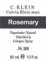 Масляная парфюмерия на разлив для мужчин 206 «Man Calvin Klein»