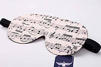 Двусторонняя маска для сна с нотами, фото 1