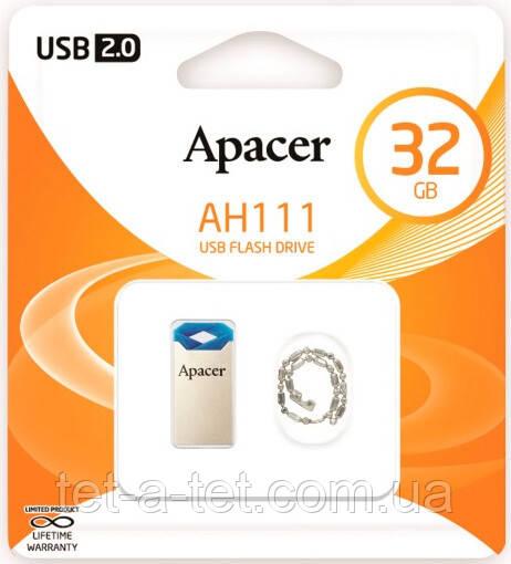 Флеш-память USB Apacer AH111 16GB blue (AP16GAH111U-1)