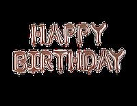"""Шары надувные фольгированные буквы """"Happy Birthday"""" Розовое золото"""