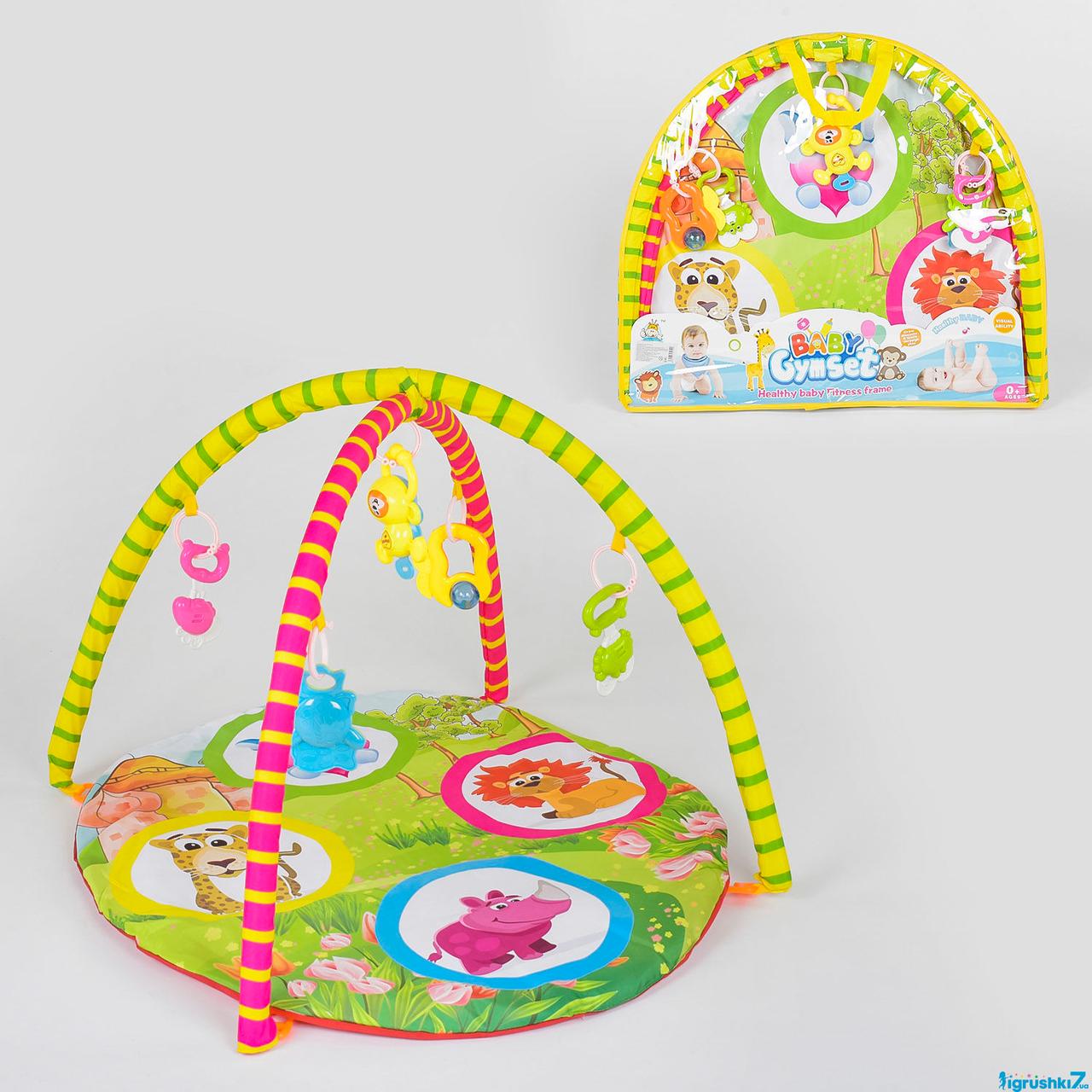 Коврик игровой для детей 604-6 В,  5 подвесок, в сумке