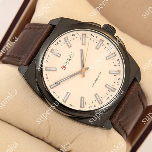 Модные наручные часы Curren Classico 8168 Black\White 1008-0023