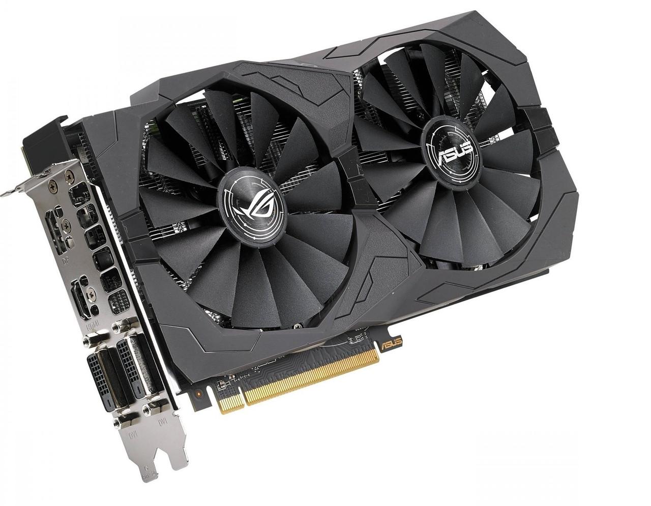 Asus  Radeon RX570 ROG Strix OC 4GB GDDR5 (256bit) (1300/7000)