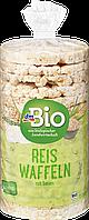 Органические рисовые хлебцы с кунжутом dm Bio Reiswaffeln mit Sesam, 100 гр