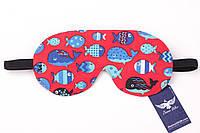 Двусторонняя маска для сна с рыбками, фото 1